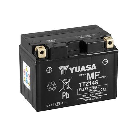BATERÍA YUASA TTZ14S COMBIPACK (CON ELECTROLITO)