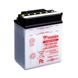 BATERÍA YUASA YB14A-A2 COMBIPACK (CON ELECTROLITO)