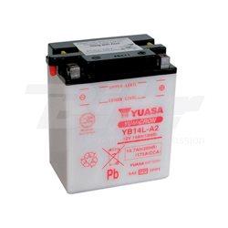 BATERÍA YUASA YB14-A2 DRY CHARGED (SIN ELECTROLITO)