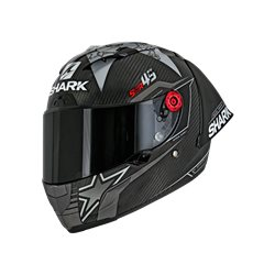 SHARK RACE-R PRO GP REDDING CARBON NEGRO ROJO