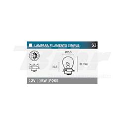 LAMPARA 12V15W P26S