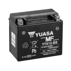 BATERIA MOTO YUASA YTX12-BS COMBIPACK (CON ELECTROLITO)