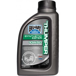 BOTELLA 1L ACEITE DE MOTOR BEL-RAY 4T WORKS THUMPER RACING 100% SINTÉTICO 10W-50
