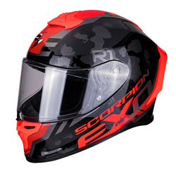 SCORPION EXO R1 AIR OGI NEGRO ROJO