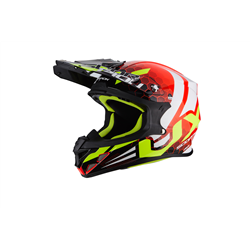SCORPION EXO-21 AIR XAGON ROJO FLUO NEGRO