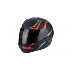 SCORPION EXO 390 HAWK NEGRO MATE ROJO