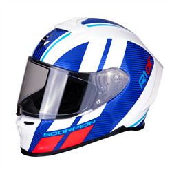 SCORPION EXO R1 AIR CORPUS BLANCO AZUL ROJO