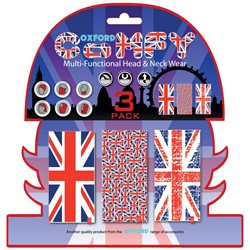 BRAGA CONFORT UNION JACK (BNADERA UK) PACK DE 3 OXFORD NW120